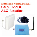 Uso doméstico w/cable de la antena de doble banda de refuerzo GSM900Mhz Booster + 3G WCDMA 2100 Mhz Repetidor de doble banda repetidor gsm 3G repetidor