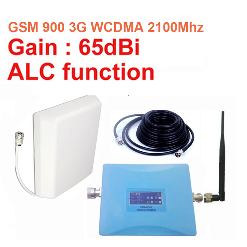 Home Use W/ Antenna Cable Dual Band Booster GSM900Mhz Booster+3G WCDMA 2100Mhz Repeater Dual Band Repeater Gsm 3G Repeater
