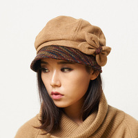Female Cute England British Wool Felt Beret Hat Women Lady French Artist Red Black Khaki Flat