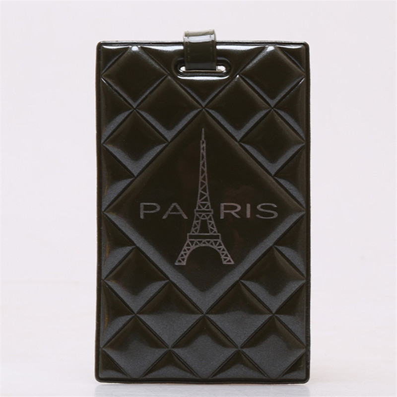 3D Solid Embossed Luggage Tag Paris Tower Travel Suitcase Baggage Bag Creative Mixproof Boarding Tag Address Label Name ID Tags