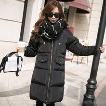 Womans Winter Warm Cloak Windcheater Hooded Cheap Long Big Jacket Thick Maxi Coat Palto Parka Large