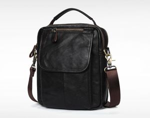 Image 1 - Real leather mens single shoulder/cross body bag top layer cowhide waxy leather mens bag.pinepoxp bag