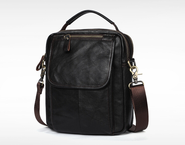 Real leather mens single shoulder/cross body bag top layer cowhide waxy leather mens bag.pinepoxp bag