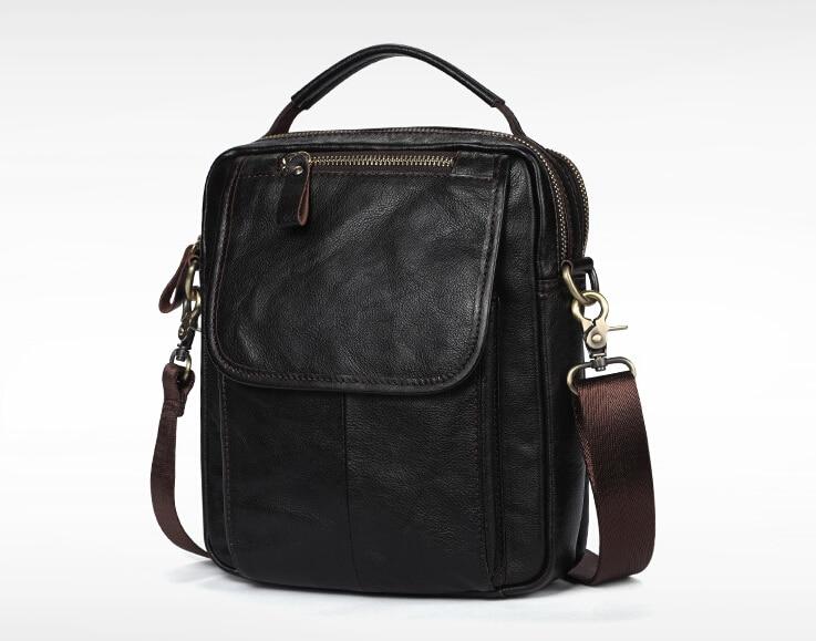 リアルレザーメンズシングルショルダー/クロスボディバッグトップ層牛革ワックス状の革の男性のバッグ。 pinepoxp バッグ  グループ上の スーツケース & バッグ からの トップハンドルバッグ の中 1