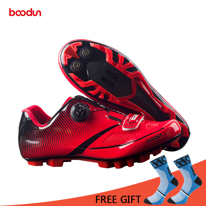 Boodun Breathable Professional Self-Locking Cycling Shoes MTB Bicycle Shoes Non-Slip Bike Racing Shoes Sapatos de ciclismo racmmer cycling gloves guantes ciclismo non slip breathable mens