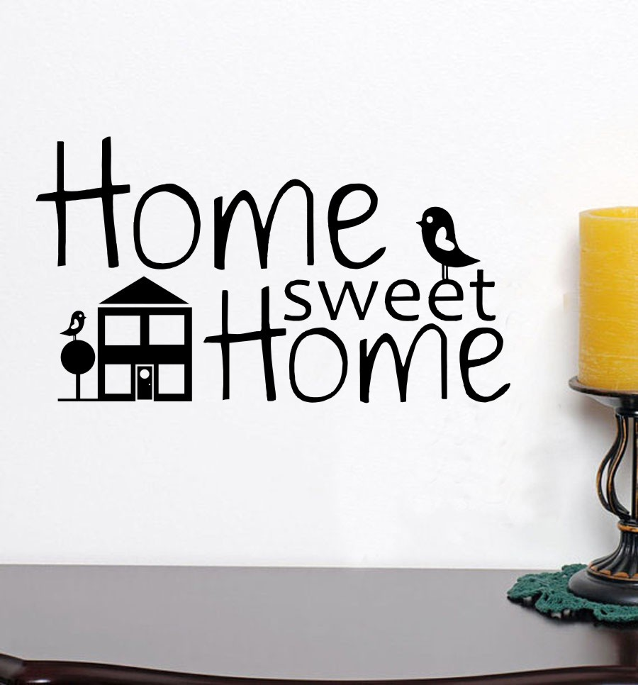 Wall stickers home sweet home - Home Sweet Home Wall Stickers Home Sweet Home With House And Two Bird Removable Vinyl Decor
