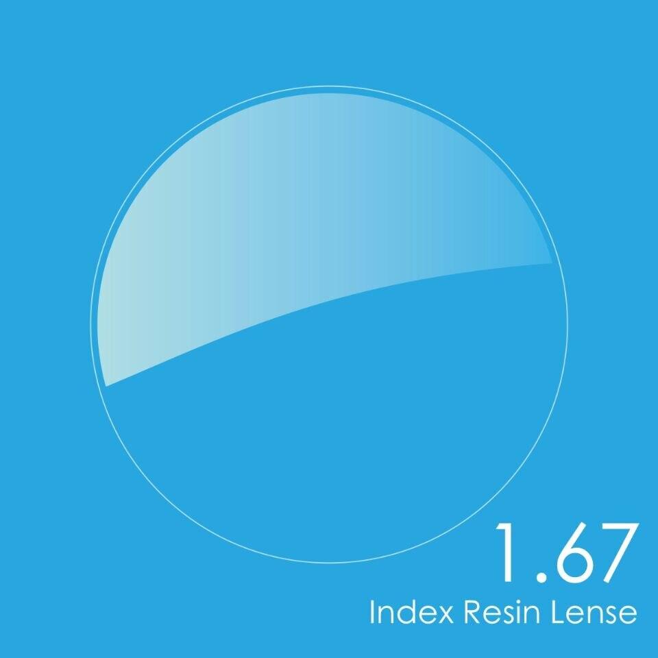 Index 1.67 verres de prescription lentilles/verres asphériques extra fins en résine UV HC TCM lentilles pour lunettes de lecture ou myopie