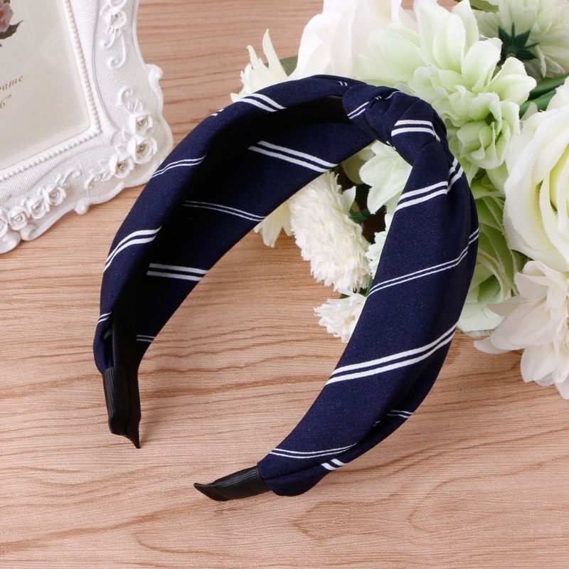 Women Girl Vintage Striped Round Hair Band Twisted Knotted Headbands Wide Cloth Elastic Turban New Hair Decoration Accessory
