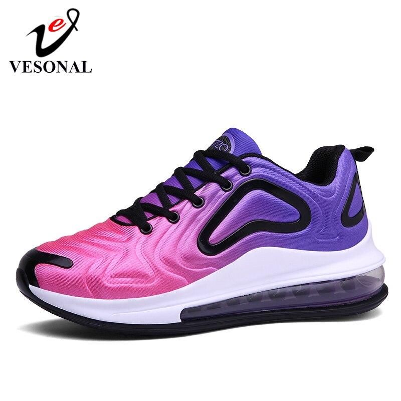 VESONAL nuevo verano otoño ligero aire almohadón Zapatillas Hombre Zapatos Casual transpirable cómodo Hombre Zapatos caminar calzado