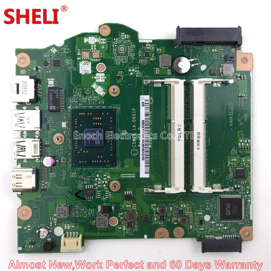 NBGKY11001 NB.GKY11.001 Laptop Motherboard For Acer Aspire ES1-523 Series C5W1R LA-D661P 1