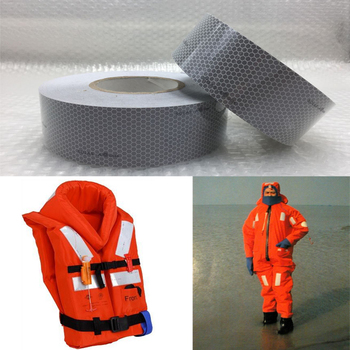 цена на 5cmx10m Solas Grade Marine Reflective Tape for Life-Saving Products sewing on clothes