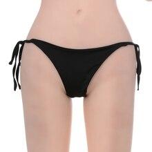 Sexy Women G-string Bikini Swimwear Bottom Side Tie Thong Ladies Bathing Briefs Swimsuit Summer Hot Sale 2017