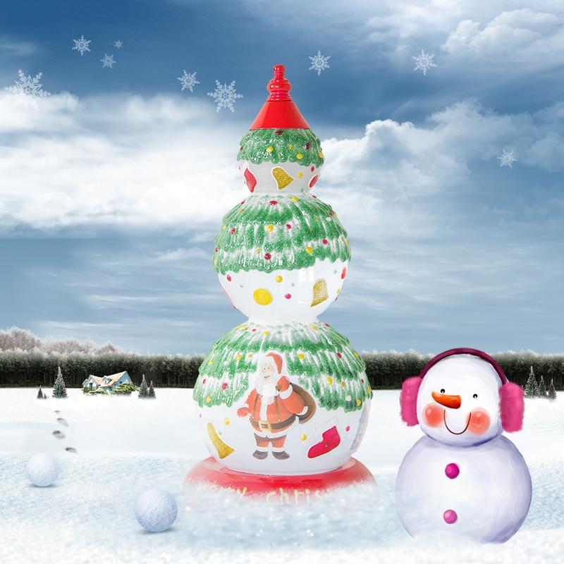 Современный простой украшение праздника настольная лампа Санта Клаус узор таблицы свет рождественский вечерние супермаркет украсить свет...