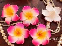 100x Wedding Party Hawaiian Frangipani Foam Plumeria Flower Head Rose Red
