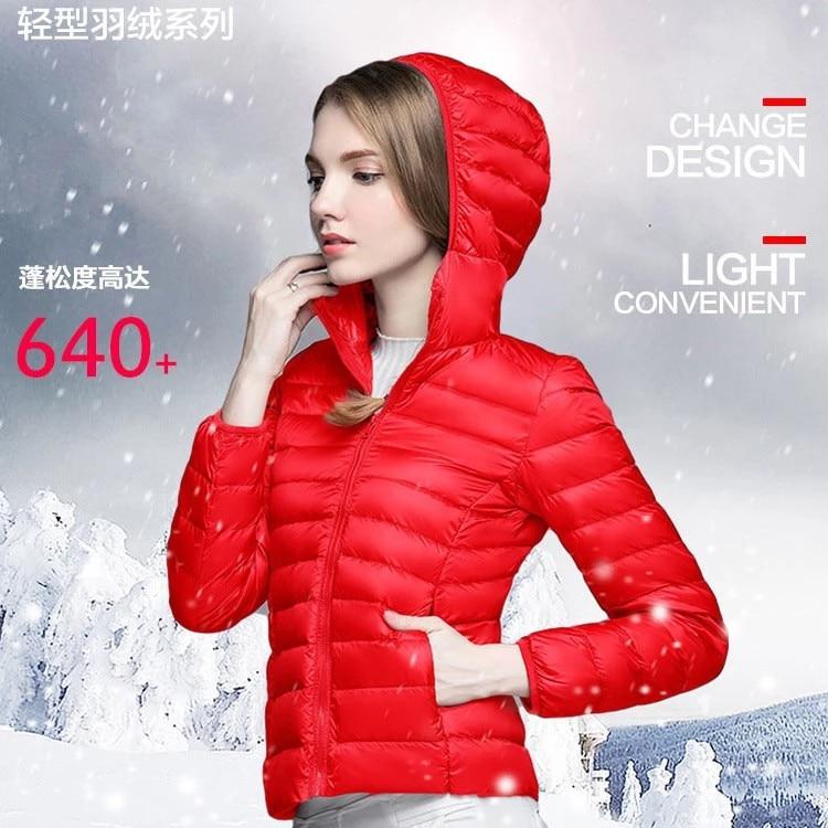 Girls Duck   Down     Coats   Lady Canada Male Winter   Coat   Youth Ultra Thin   Down   Jackets Female Feather   Down   Light Women's Dress B-9604