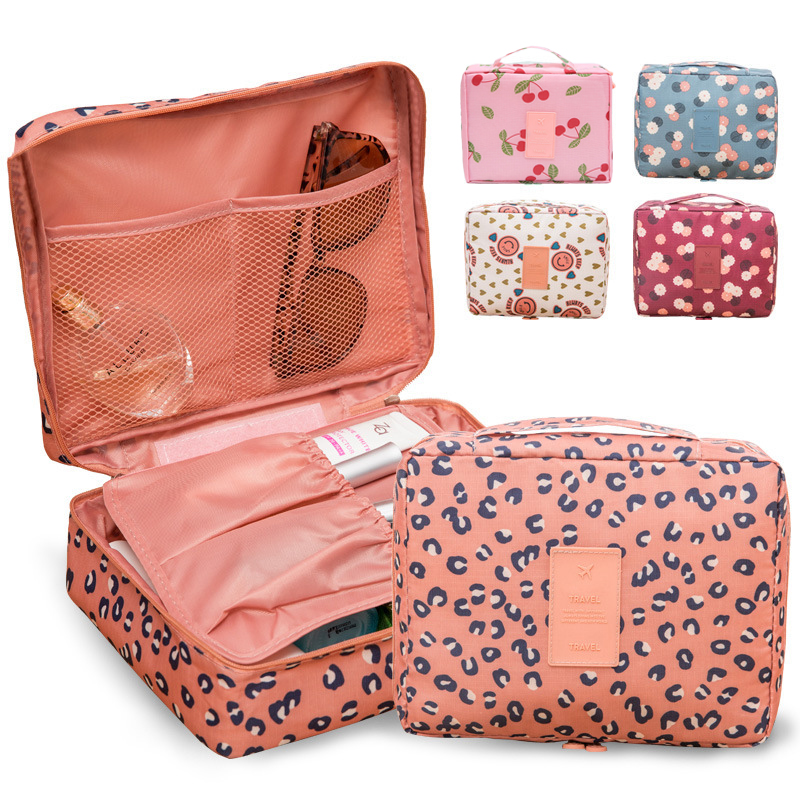 LHLYSGS 2019 New Flower Makeup Bag Women Waterproof Portable Cosmetic Bag Travel Necessity Beauty Toiletry Kit Organizer Bag