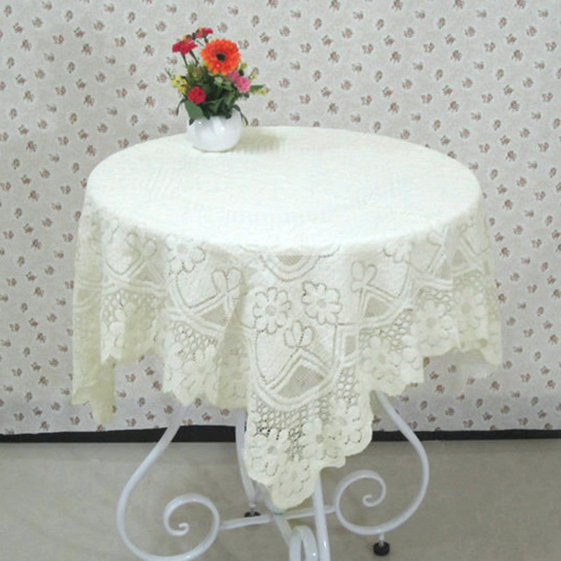 Hot Selling Lace Tablecloth Slip Resistant Beige Table