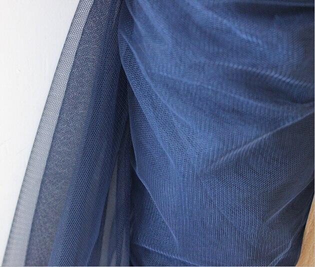 Blu Navy 160 Centimetri Maglia 2 Metri Eugen Organza Tessuto Di