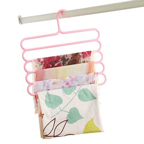 5 couches multifonctionnel anti-dérapant sec humide utilisation écharpe cintre créatif porte-serviettes!