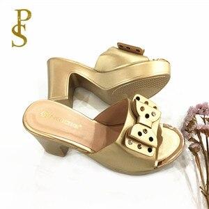 Image 2 - Yüksek topuklu bayan terlik sıcak satış yaz ayakkabı