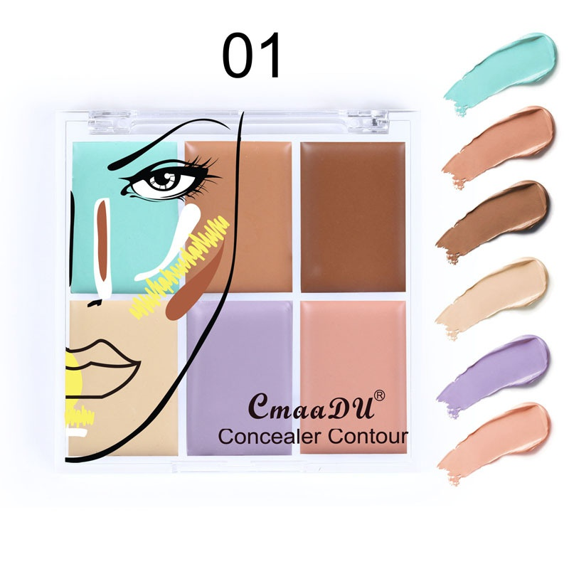 6 Color Concealer For Dark Skin Full Cover Color Corrector Face contour cream kit concealer palette Makeup image