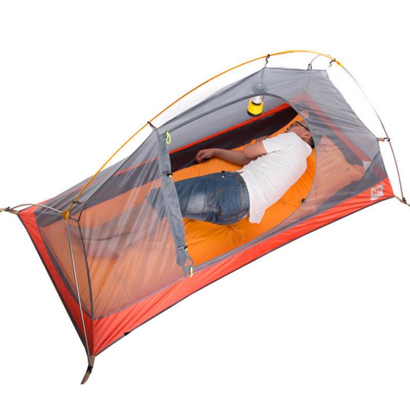 Naturehike Cycling hiking 1 Person Tent 20D Silicone Fabric C&ing Tent Ultralight Outdoor Tent Waterproof Tent-in Tents from Sports u0026 Entertainment on ...  sc 1 st  AliExpress.com & Naturehike Cycling hiking 1 Person Tent 20D Silicone Fabric ...