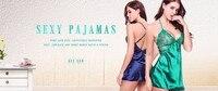 avidlove для женщин шелк пос атлас пижама кружево Пэм комплект без рукавов пижама набор в-бюстгальтер провода Пэм лето одежда для сна для женщин