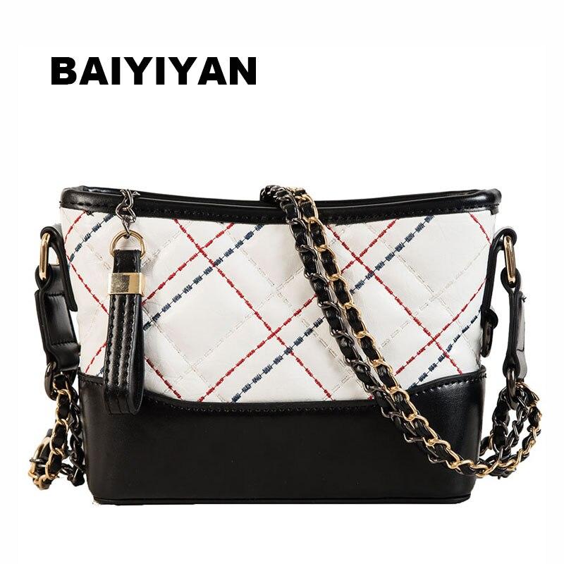New Luxury Women's Shoulder Bag Designer Handbag Vintage Messenger Bag PU Leather Chain Crossbody Bag For Ladies