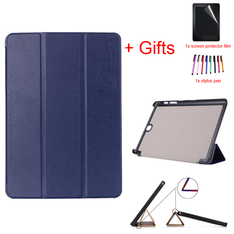 Smart Magnetic PU Leather Case For Samsung Galaxy Tab A 9.7 SM-T550 T555C P550 P555C 9.7Inch Tablet Stand Cover