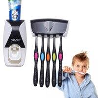 5 Titular escova de dentes Criativo distribuidor Automático Dentífrico Espremedor conjunto montado na Parede Do Banheiro Prateleiras De Armazenamento De Suprimentos 1 Suporte p/ escova e pasta de dentes    -