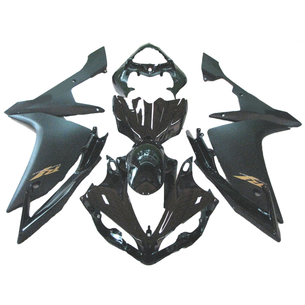 ABS fairing kit for YAMAHA YZF R1 fairings 2007 2008 matte black YZF R1 07 08 fairings injection molding body kit xl02 hot sales for yamaha yzf r1 2007 2008 accessories yzf r1 07 08 yzf1000 black aftermarket sportbike fairing injection molding