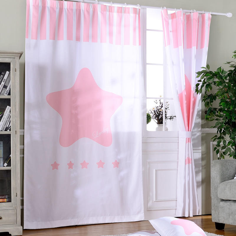 Living Room Ready Made Curtains Drapes Star Door Curtains For The ...