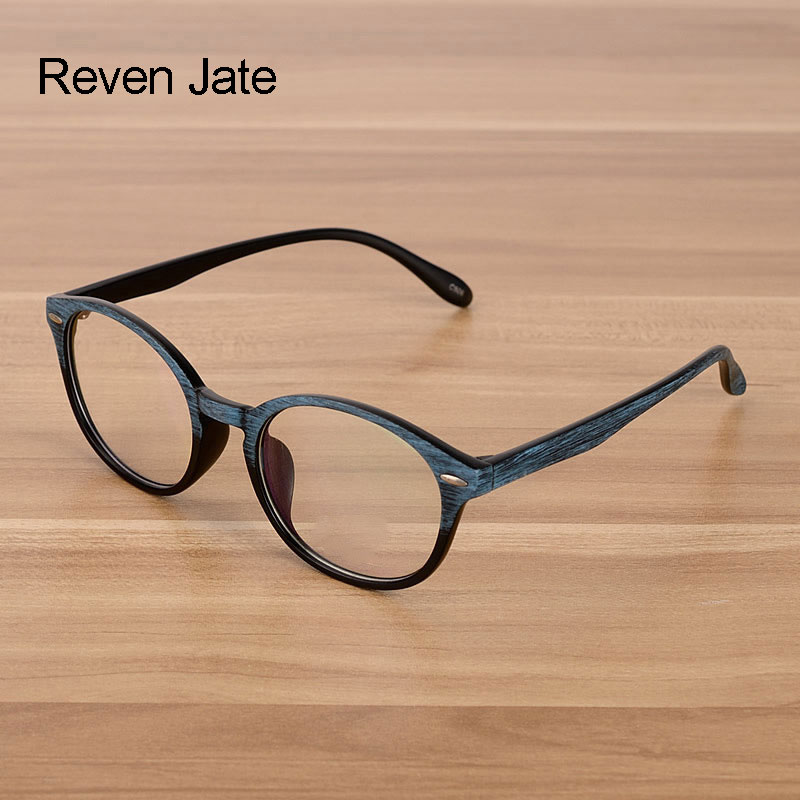 Reven Jate Wooden Pattern Unisex Fashion Optical Spectacles Eyeglasses High Quality Glasses Optical Frame Eyewear