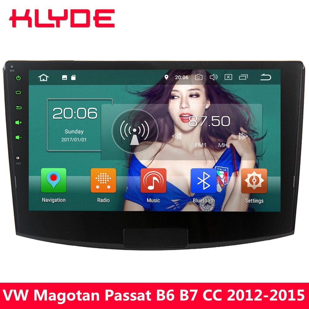 KLYDE 10.1 IPS 4g Octa base Android 8 4 gb + 32 gb Voiture Lecteur DVD Radio Pour volkswagen Magotan Passat B6 B7 CC 2012 2013 2014 2015