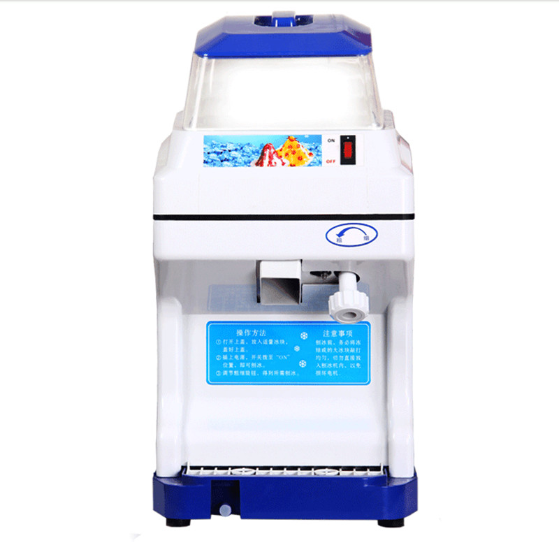 220V Commercial Electric Ice Crusher Automatic Ice Slush Maker For Coffee Shop Bar Restaurant Snow Maker Machine EU/AU/UK/US