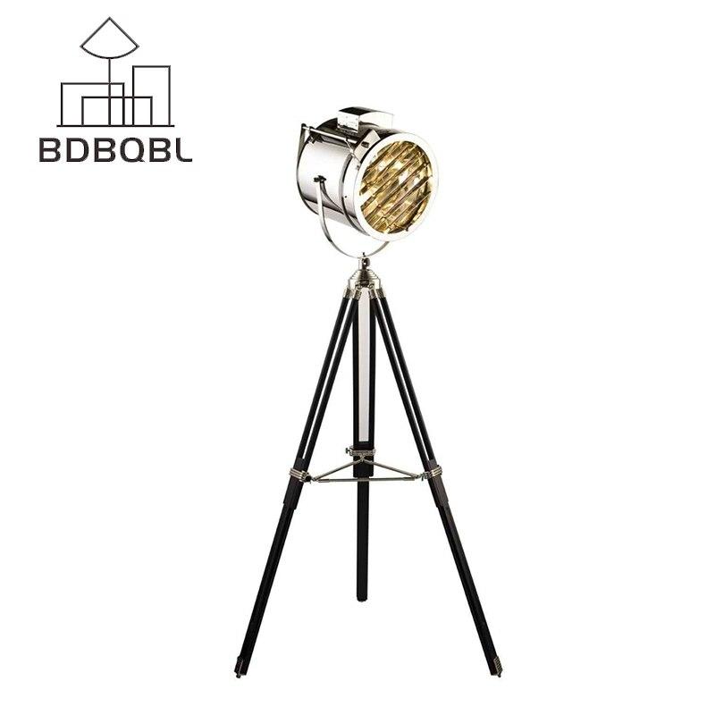 BDBQBL Nordic Американский творческая студия ретро промышленного бар напольные светильники E27 Штатив для прожектора дополнительные чистая СВЕТО