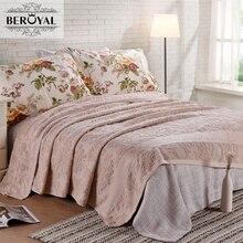 Nuevo 2017 tiro blanket-1 pieza 200*230 cm 100% manta de algodón adulto súper suave floral beroyal marca mantas manta