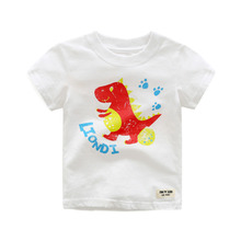 Hot 2017 New Summer Children Clothes Boys T-shirt Cartoon Printing Kids Short Sleeve T-shirts 100% Cotton O-neck Tops Tee Shirt
