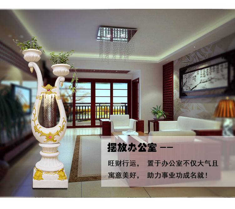 European Water Fountain Aquarium Lucky Feng Shui Round Wedding Gifts Living Room Home