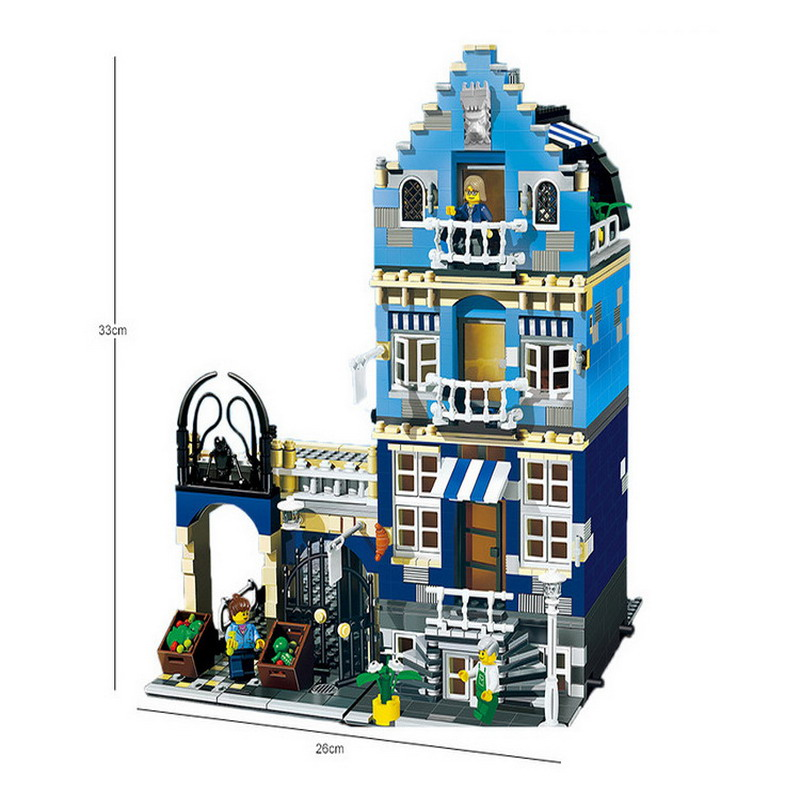 15007 LEPIN Factory City Street Factory Market Street Model Building Blocks Enlighten Figure Toys For Children Compatible Legoe waz compatible legoe city lepin 2017 02022 1080pcs city 50th anniversary town figure building blocks bricks toys for children