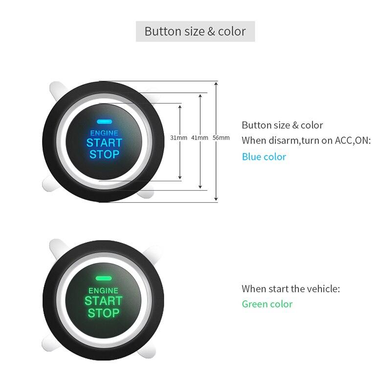 EASYGUARD PKE système alarme de voiture pour la voiture système de verrouillage central avec télécommande démarreur à distance push start moteur start stop DC12V - 5