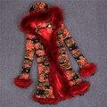 Natureza Coelho Casaco De Pele das senhoras Jaqueta de Gola de Pele De Guaxinim Inverno Mulheres Fur Trench Coats Casacos Casacos Femininos Abrigos Mujer