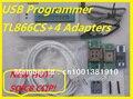 Бесплатная Доставка Русский Программное Обеспечение SOIC8 IC Clip + V6.5 TL866CS EEPROM ПИК AVR BIOS USB Универсальный Программатор 4 адаптеры