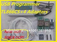 Barato Envío Gratis XGECU SOIC8 IC Clip V9.00 TL866II más TL866A nand flash EEPROM PIC AVR BIOS programador Universal USB + 4 adaptadores