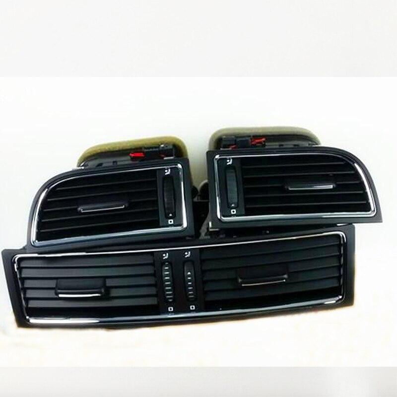 3 шт./лот хром приборной панели нагреватель холодного воздуха кондиционер Выход вентиляционное отверстие для превосходного 3T0820951 3T0819701