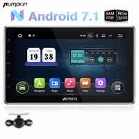 Pumpkin Android 7.1 Two Din 10.1 Inch Universal Car DVD Player 2GB RAM GPS Navigation Car Radio Wifi Free Maps Bluetooth Stereo