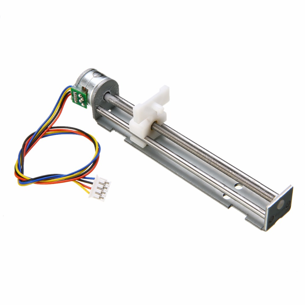 цена на Micro Sliding Table Kit DC 9-12V 800mA Drive Stepper Motor Screw With Nut Slider 2 Phase 4 Wire For DIY Laser Engraving Machine