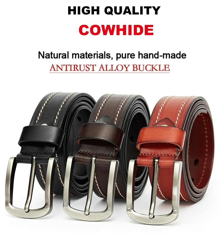 cf7946cddee US $15.31 57% OFF|Aliexpress.com : Buy MEDYLA fashion belt for men high  quality natural leather casual business men's belt retro suit belt metal  pin ...