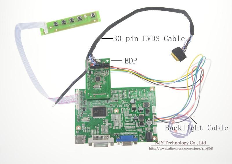 Free shipping for 13.3 inch B133HAN02.3 B133HAN03.2 VGA LCD Controller Board eDP 2 Lanes 30 pins LCD 1920x1080 WLED fast free ship for gameduino for arduino game vga game development board fpga with serial port verilog code