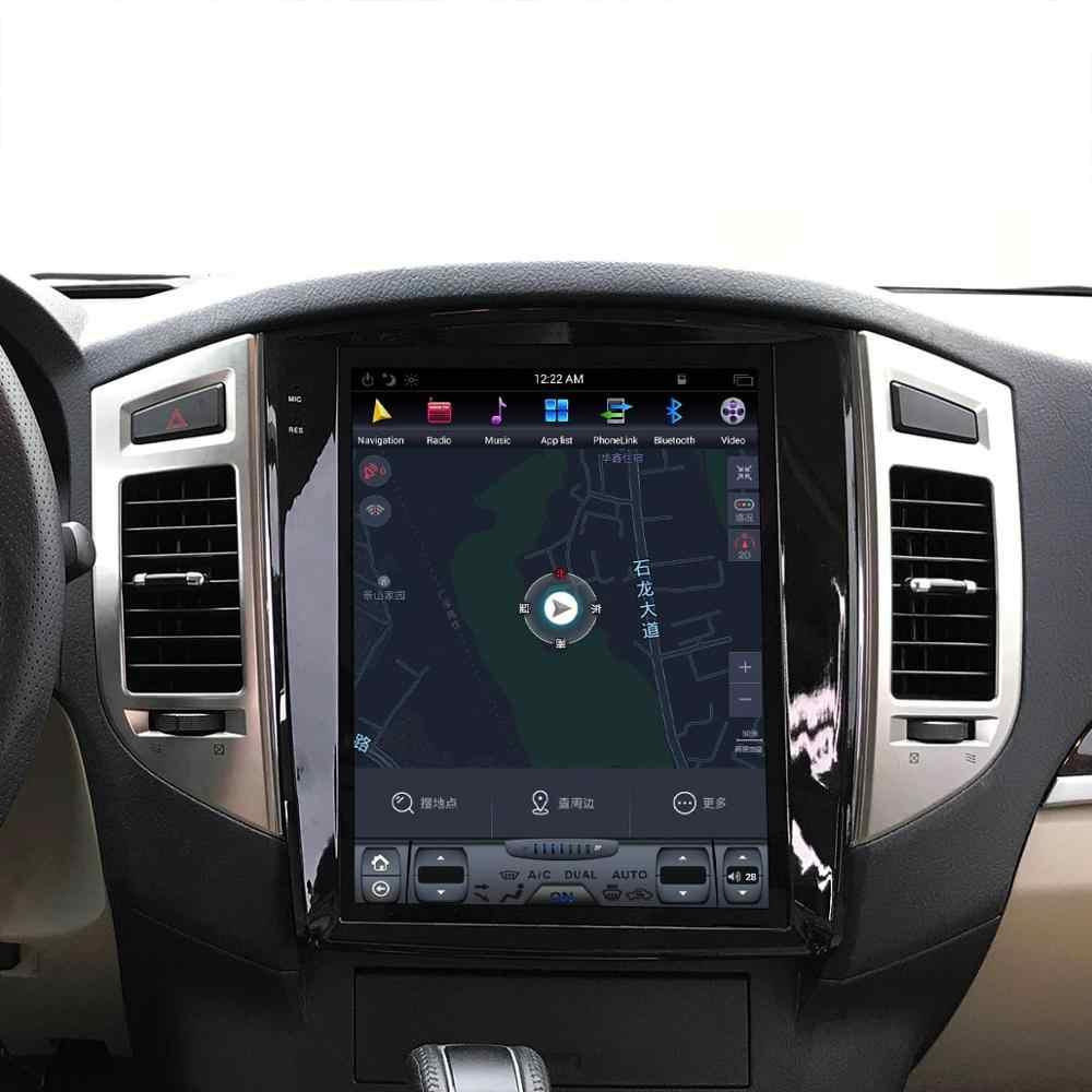 Styl tesla Android 9 nawigacja samochodowa gps dla Mitsubishi Pajero 4 V97 V93 Shogun Montero 2006 + radio samochodowe jednostka główna magnetofon